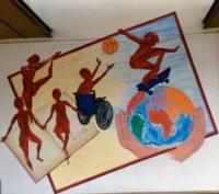 Murales ingresso scuola Don Milani